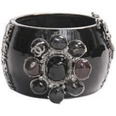 Black Enamel Chanel Bijou Cuff