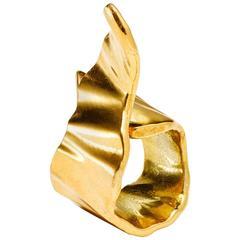 Gold Plated Ribbon Ring