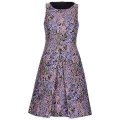 New MICHAEL KORS Jacquard Lilac Floral Design Dress size 12