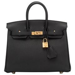 Hermes Black Togo Birkin 25cm Gold Hardware