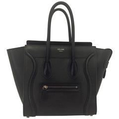 Classic Celine Black Nanos 2 Large Handbag