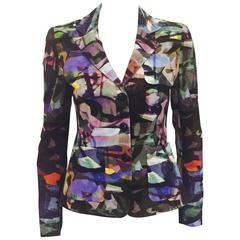 Enchanting Escada Jacket With Vibrant Multi Color Palette