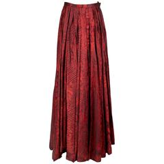 Jean Paul Gaultier Printed Ballgown Skirt circa 1990s