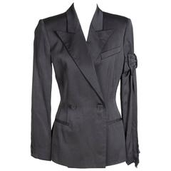 Jean Paul Gaultier Satin Blazer with Bow and Fringe circa 1990s