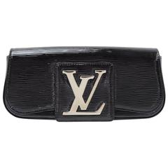 Louis Vuitton Sobe Black Electric Leather Evening Clutch Bag
