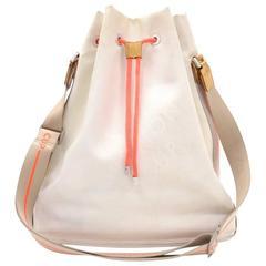 Louis Vuitton LV Cup 2003 White Damier Geant Shoulder Bucket Bag