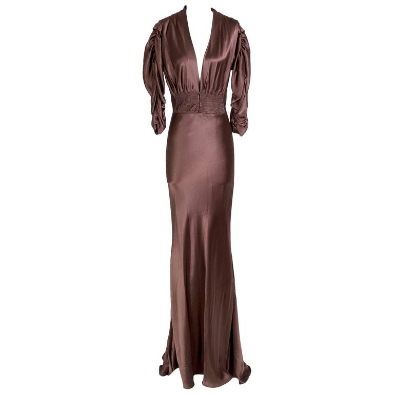 Jean Paul Gaultier Satin Dress with Ruching circa 1990s
