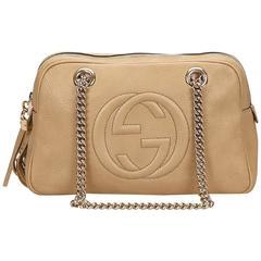 Gucci Brown Soho Calf Leather Shoulder Bag