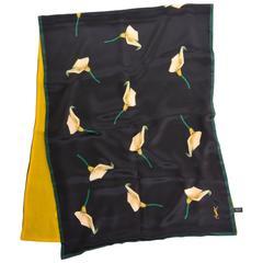 YVES SAINT LAURENT Calla Lilies Silk Stole