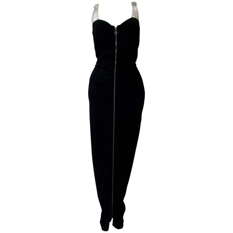 Gianni Versace Versatile Bodycon Stretch Ruched Evening Dress For Sale