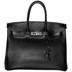 Hermes Birkin 35 Black Togo Palladium Hardware