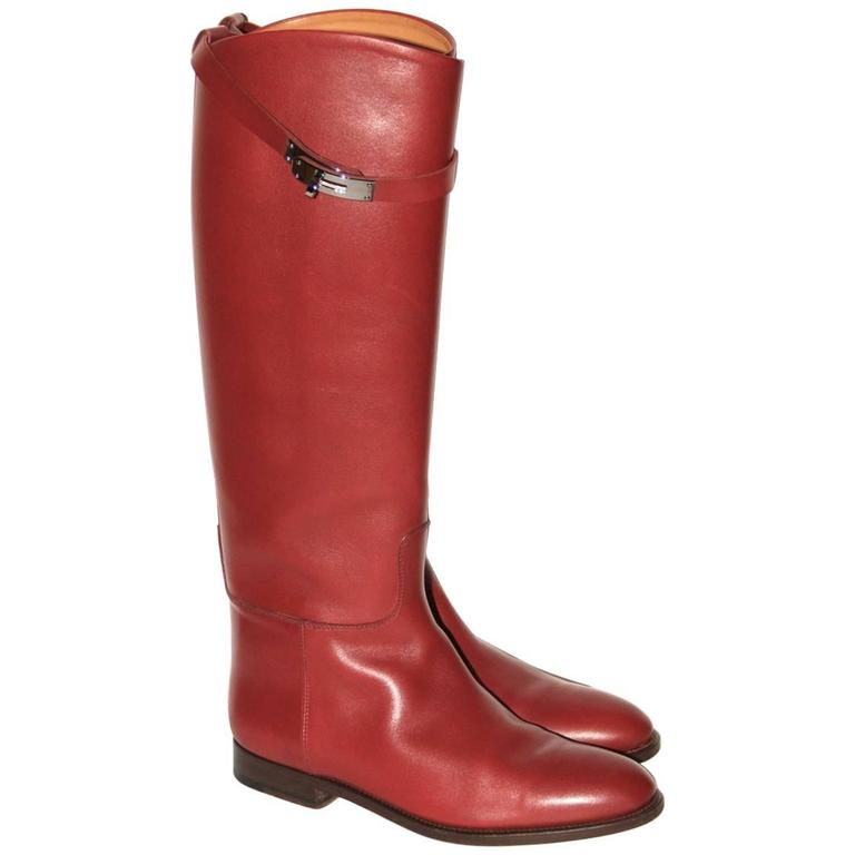 "Hermes Boots ""Jumping"" Rouge H  1"