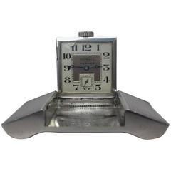 Exceptionnal Rare Hermes Tavannes Belt Buckle Watch Sterling Silver Golf 1930s