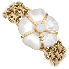 Chanel Mother of Pearl Flower Bracelet