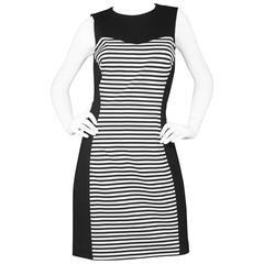Michael Kors Black & White Stripe Sheath Dress sz US10