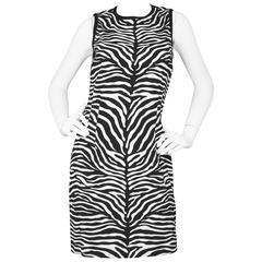 Michael Kors Black & White Zebra Print Shift Dress