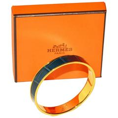 Hermes Alligator Bangle Bracelet