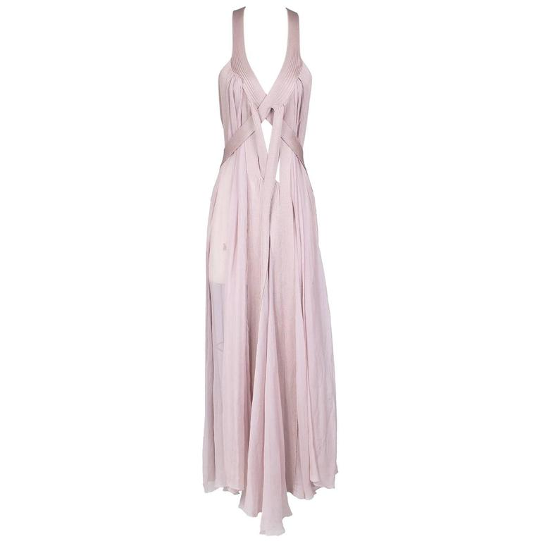 Jean Paul Gaultier Chiffon and Knit Multi Strap Dress For Sale