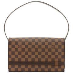 Louis Vuitton Tribeca Long Damier Ebene Canvas Shoulder Bag