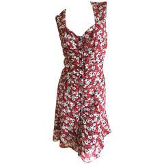 Yves Saint Laurent Rive Gauche Poppy Print Sun Dress