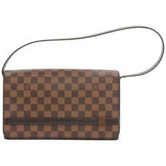 Louis Vuitton Tribeca Long Damier Ebene Canvas Flap Shoulder Bag