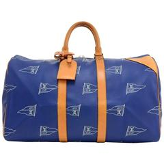 Louis Vuitton LV Cup 1995 Keepall 45 Blue Canvas Hand Bag - Limited