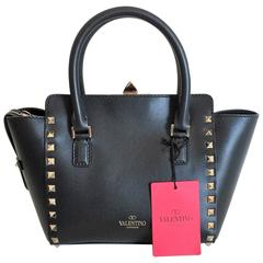 New Valentino Garavani Rockstud mini Black Leather Hand / Crossbody Bag
