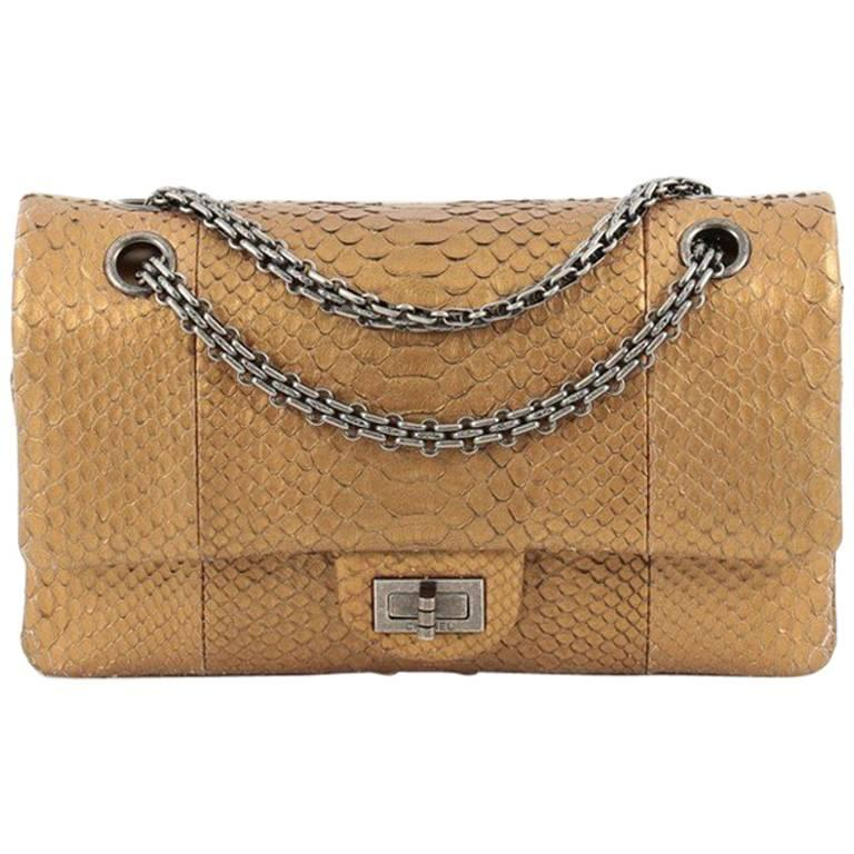 72c41411aba6 Chanel Reissue 2.55 Handbag Python 225 at 1stdibs
