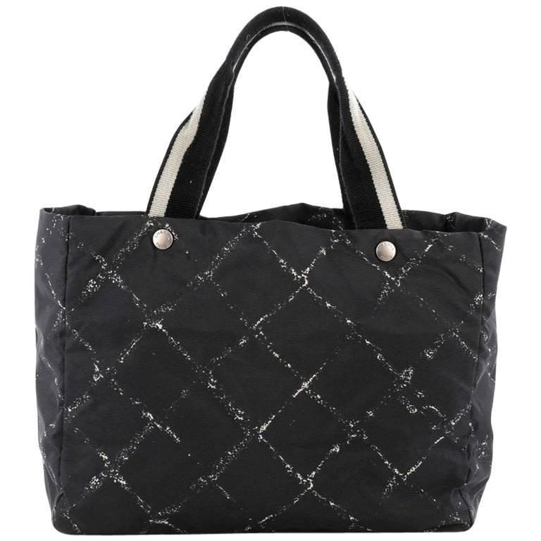 Chanel Travel Line Tote Printed Nylon Large At 1stdibs
