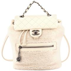 Chanel Mountain Backpack Shearling with Quilted Calfskin Small