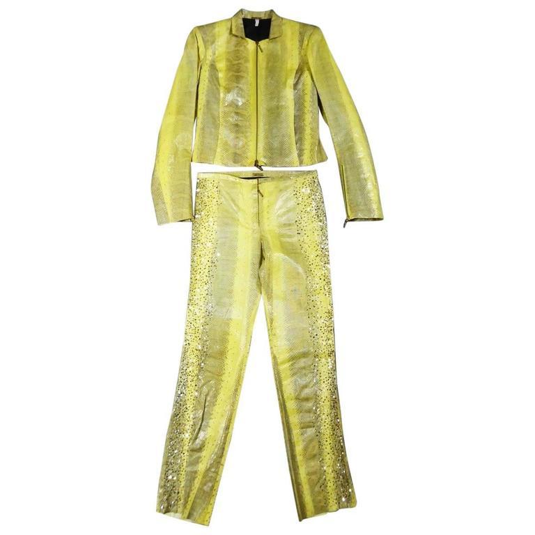 Roberto Cavalli Python Suit