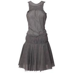 Junya Watanabe Comme des Garçons  Sculpted Cutout  Plaid Dress