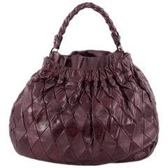 Miu Miu  Convertible Hobo Matelasse Leather Medium