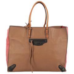 Balenciaga Papier A4 Classic Studs Handbag Leather Medium