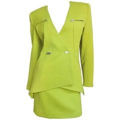 1990s Claude Montana New Vintage Neon Futuristic Suit