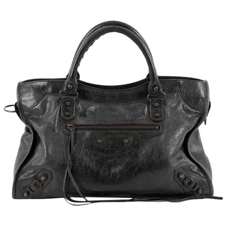 Balenciaga City Classic Studs Handbag Leather Medium at ...