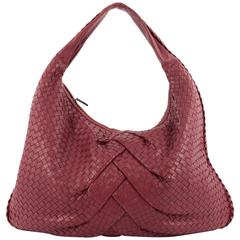 Bottega Veneta Veneta Hobo Pleated Intrecciato Nappa Maxi
