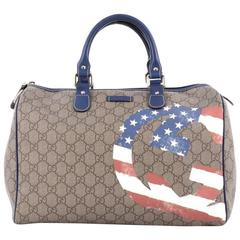 Gucci Flag Boston Bag GG Coated Canvas Medium