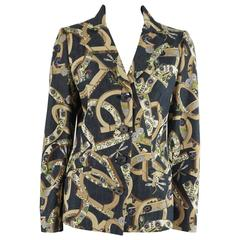 Salvatore Ferragamo Floral Print Denim Jacket - 6
