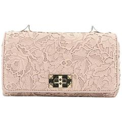 Valentino Girello Shoulder Bag Leather Lace Medium