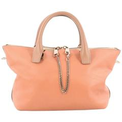Chloe Bicolor Baylee Satchel Leather Medium