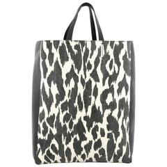 Celine Vertical Bi-Cabas Tote Printed Canvas and Leather Large