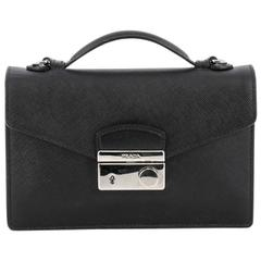 Prada Convertible Sound Bag Vernice Saffiano Leather Mini