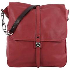 Lanvin Flap Hobo Leather Medium