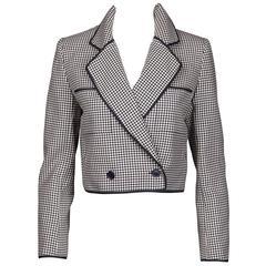 Nina Ricci Vintage Wool Houndstooth Jacket