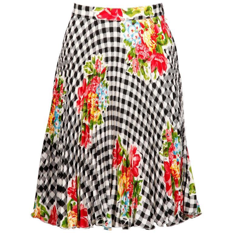 Emanuel Ungaro Vintage 1990s Pleated Skirt