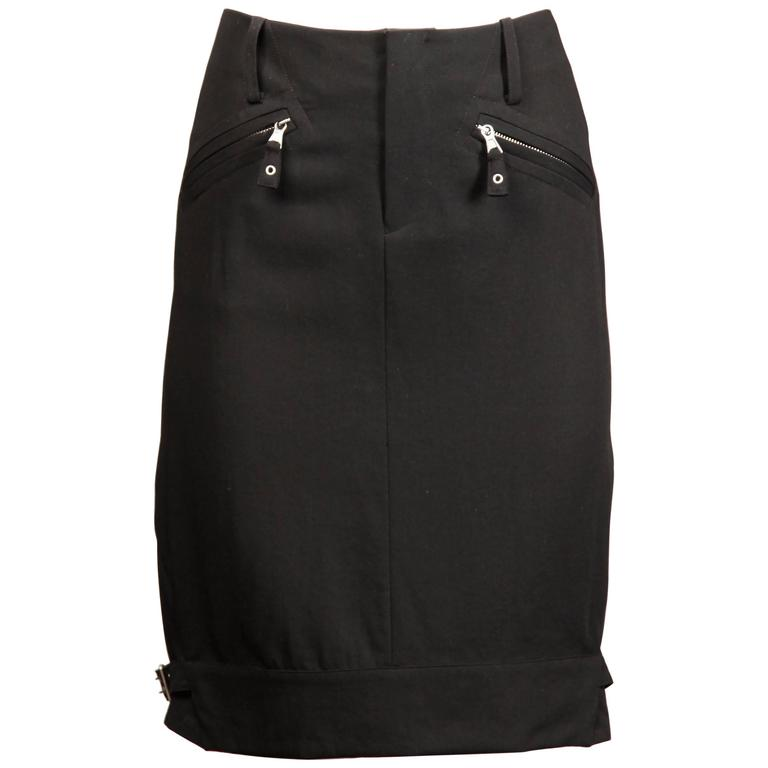 Jean Paul Gaultier Vintage Black Buckle Skirt