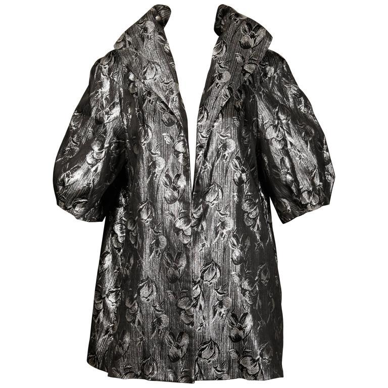 Lilli Diamond Vintage 1960s Metallic Silver Jacket