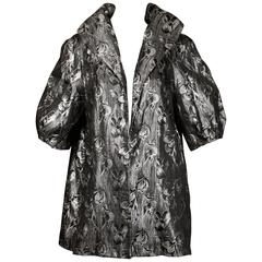 Lilli Diamond Vintage 1960s Metallic Silver Jacket