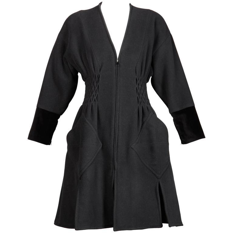 Christian Lacroix Vintage Black Avant Garde Coat